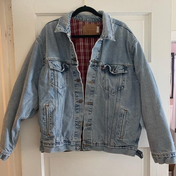 Levi's Flannel Lined Jean Denim Trucker Jacket